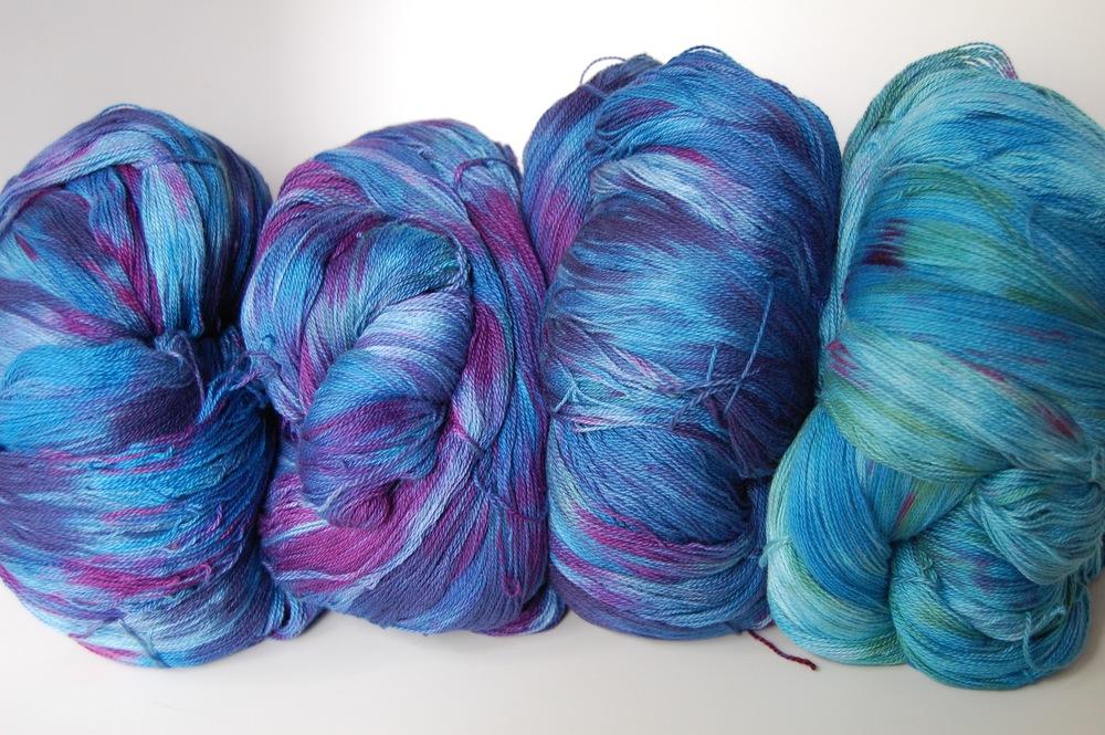 hand-dyed cotton warp #1