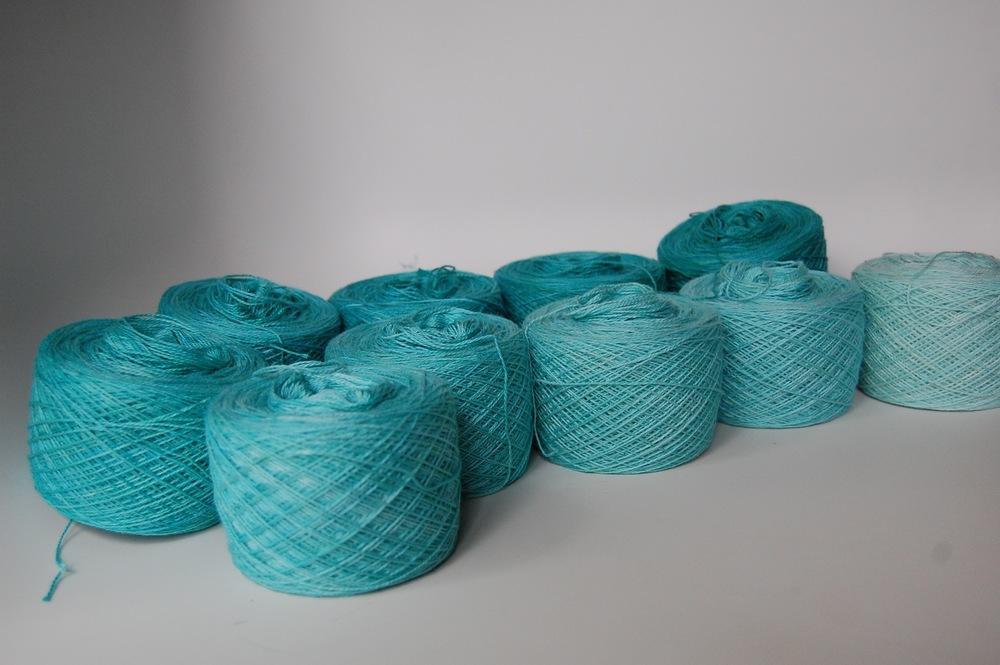 hand-dyed cotton warp #2