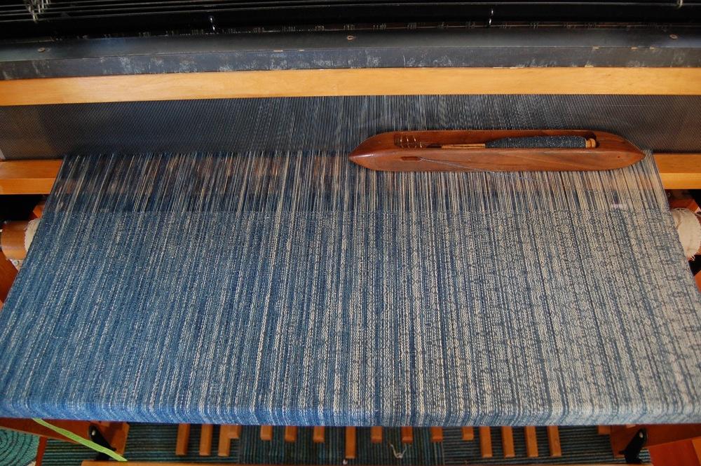 Tsumugi silk weft