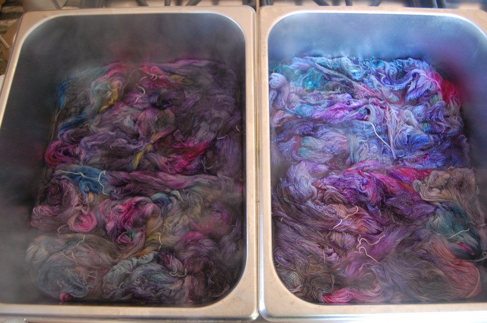 The final day of dyeing after the last application of color.