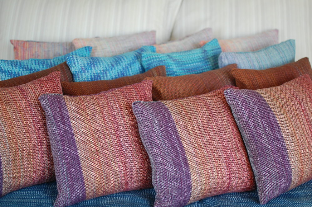 Winter 2017 Handwoven Pillow Collection
