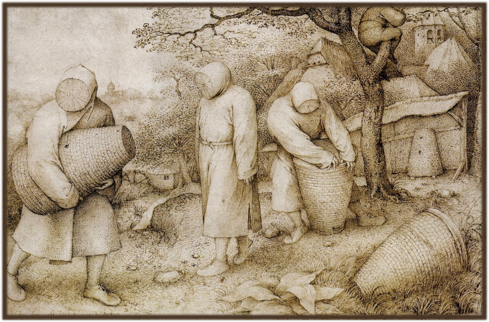 Pieter Bruegel the Elder, The Beekeepers and Birdnester.1568.fuzzedborder.png