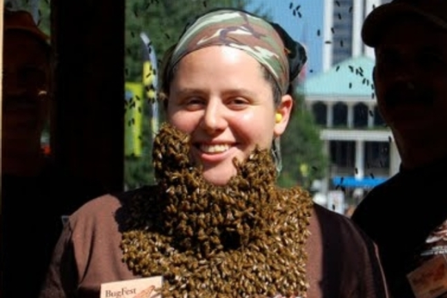 A Bee-Bearded Lady (Monica)