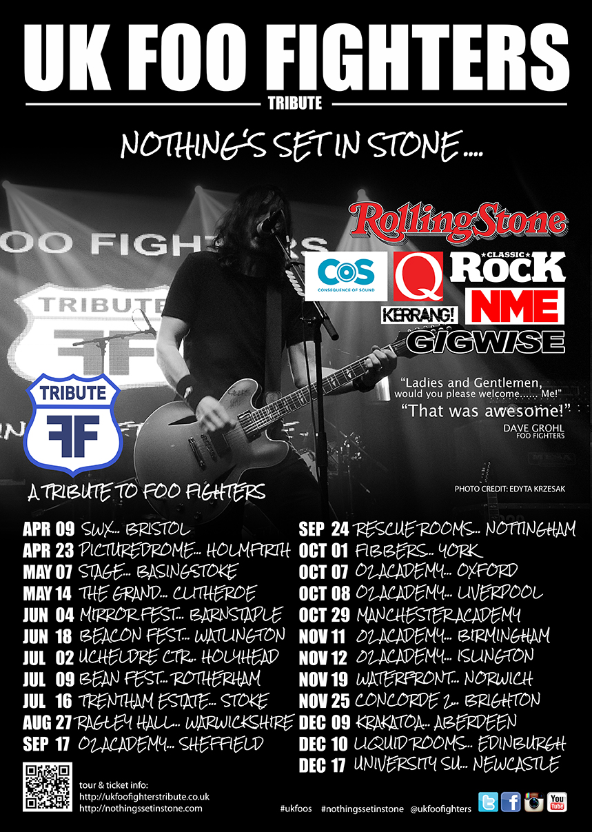 Tour Uk Foo Fighters A Tribute To Foo Fighters World Famous