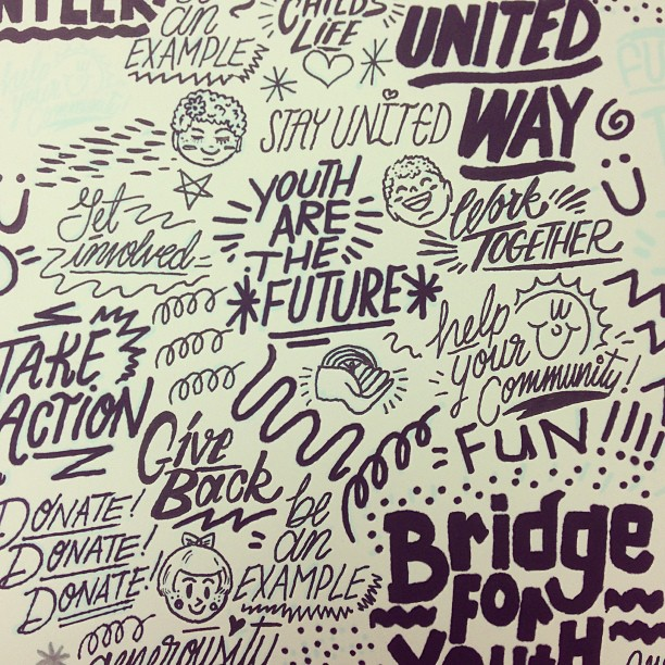 Stuff for @unitedway #lettering #positivity #quotes #typography #design #drawing #compassion