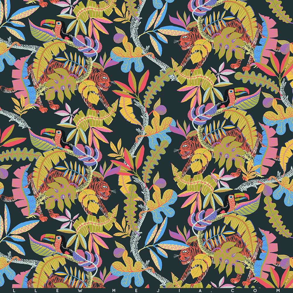 Little Tigers and Toucans pattern I designed for the folks at Afends Apparel in Australia. Keep an eye out on their high summer line :) So excited to work with these guys, special thanks to Bec Nolan!