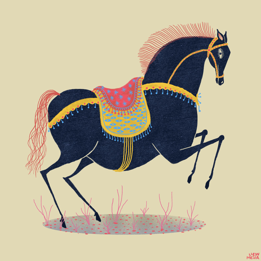 Happy Chinese New Year!!   Doodled this up quick as it's the Year of the Horse!