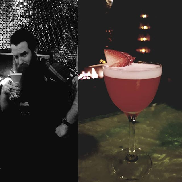While not all of us can join the epic beard club like our bartender  extraordinaire @scottyanywhere  You can come sit by the fire and enjoy the Nature Club from our newly released menu.  Poor Tom's Gin Lemon Strawberry  Egg white replacement And love.  #poortomsgin  #melbournecocktails  #cocktails  #speakeasy