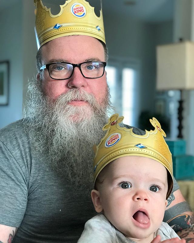 Portrait of King Ding Dong and Prince Ding-a-Ling. 2018. #bonumvitae
