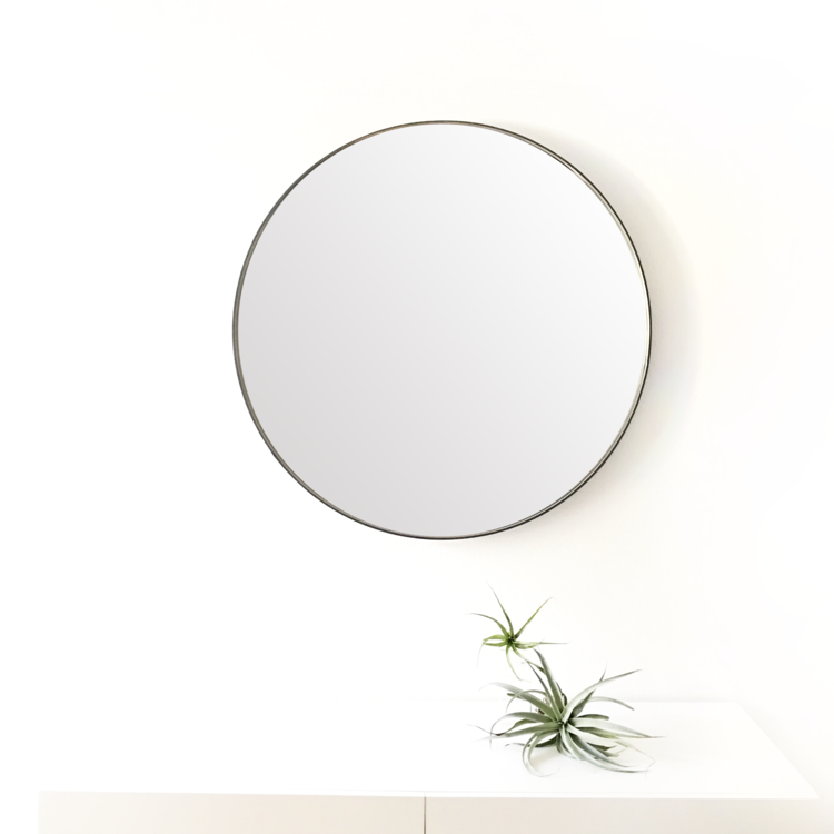 round leather mirror frame nobi zero round leather mirror 20