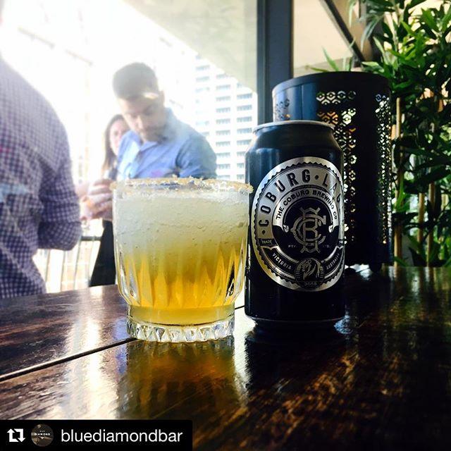 Did someone say Lageritas? @bluediamondbar #Repost @bluediamondbar (@get_repost) ・・・ Keeping cool with a @coburgbrewingco lagerita.  #melbournestyle #cocktails #melbournecity #wheretotonight #coburg #friday #happyhour #margerita  #summer