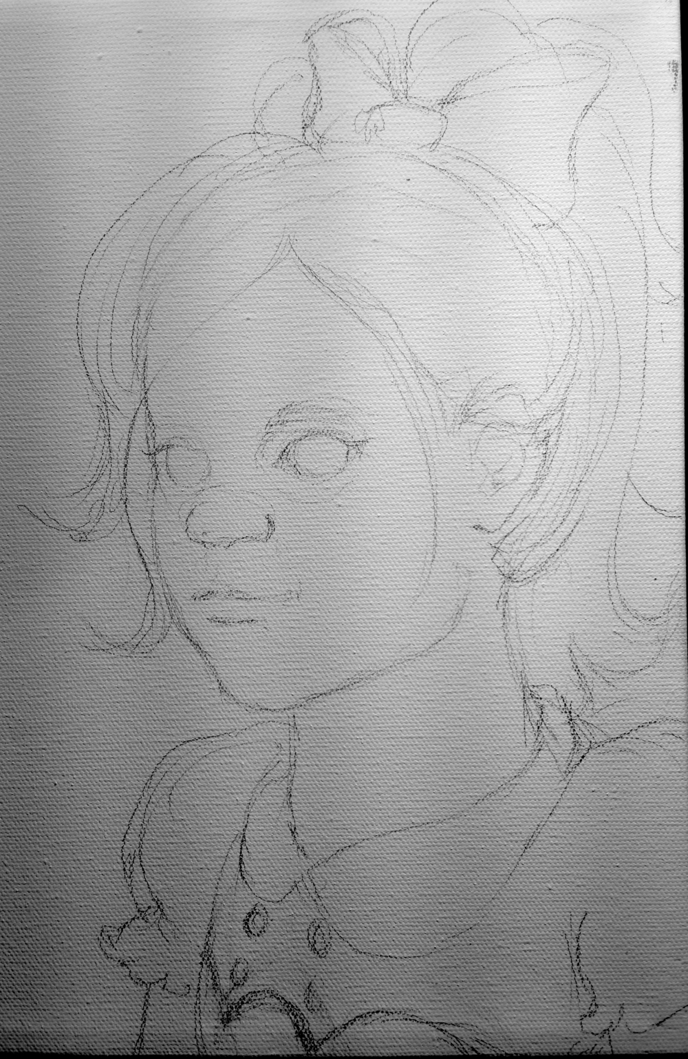 Sketch for a painting of a Little Sister from Bioshock.