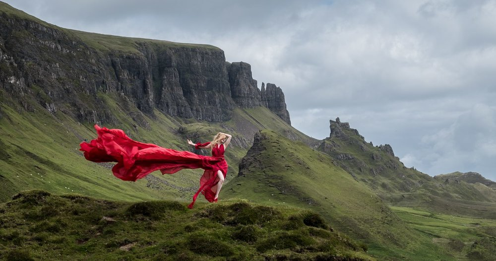 Photographer @timpile  Model, @lululockhart  Location, The Quiraing, Isle of Skye, Scotland
