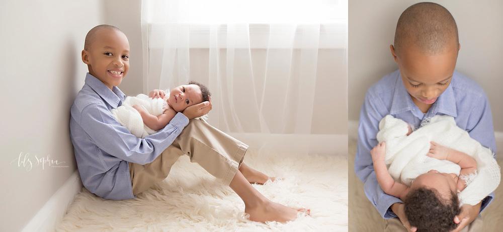 Atlanta Natural Light Photographer Newborn Pics Siblings Big