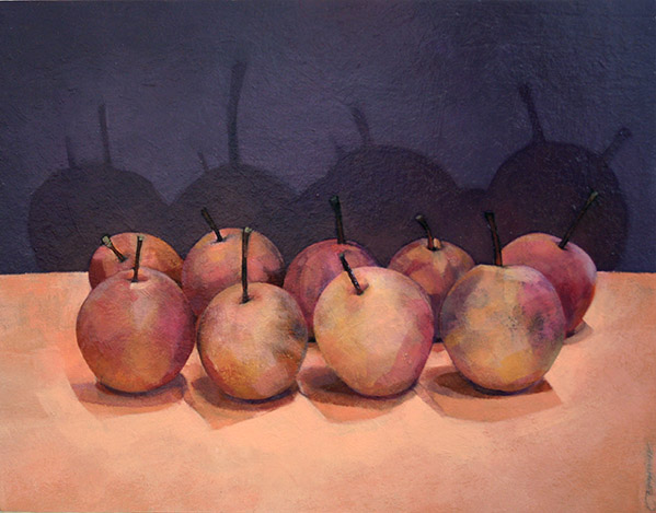 Asian Pears No. 1             Oil on Panel  14 x 18