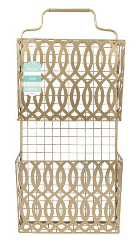 Kohl's  / Sheffield Home Gold-Tone Letter Organizer Wall Decor  SALE: $34.99 / Regular:  $49.99