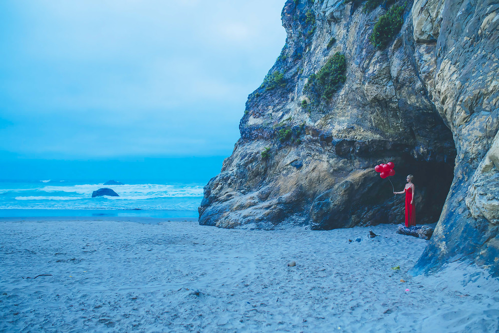 red dress project, act one, lost love, jennifer picard photography & zen thinking, oregon coast