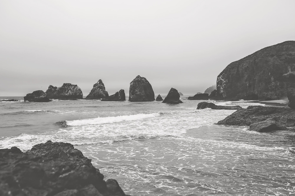 oregon coast, black and white series, jennifer picard photography, travel photography