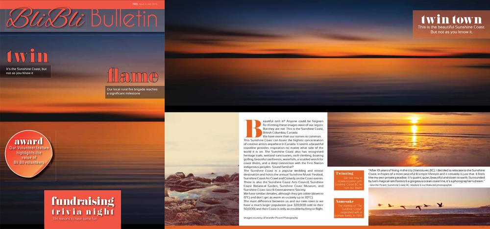 published work in australian magazine, jennifer picard photography, blu blu bulletin