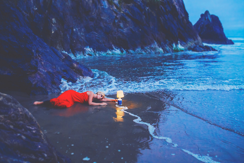 red dress project, oregon coast, jennifer picard photography & zen thinking