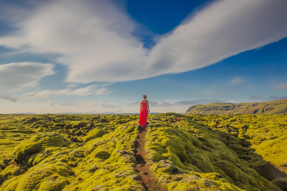 iceland, red dress project, jennifer picard photography and zen thinking