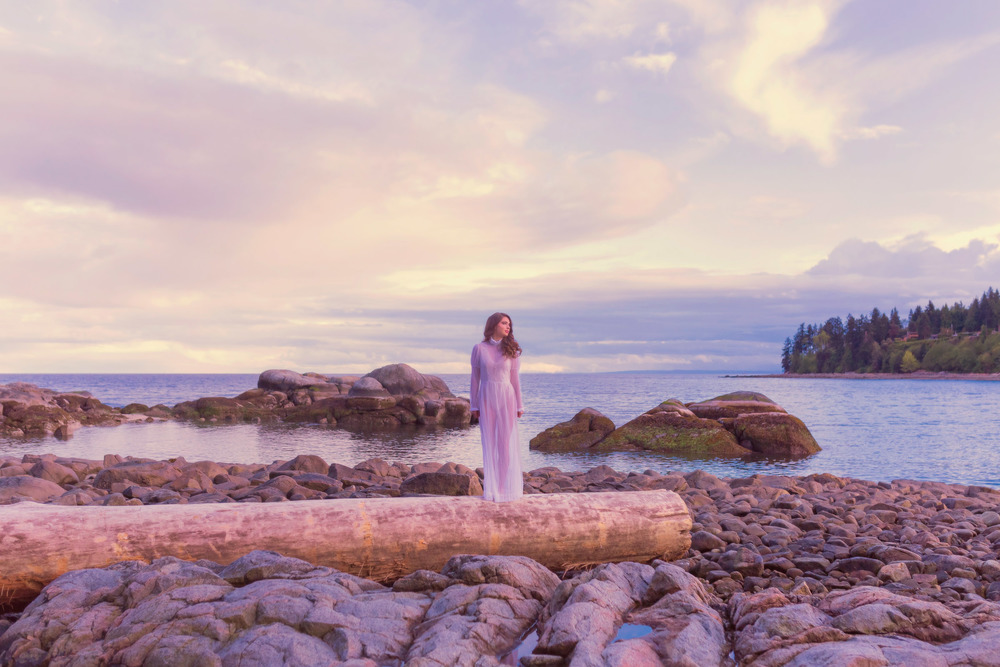 sunset beauty fashion editorial, jennifer picard photography, vancouver wedding photographer