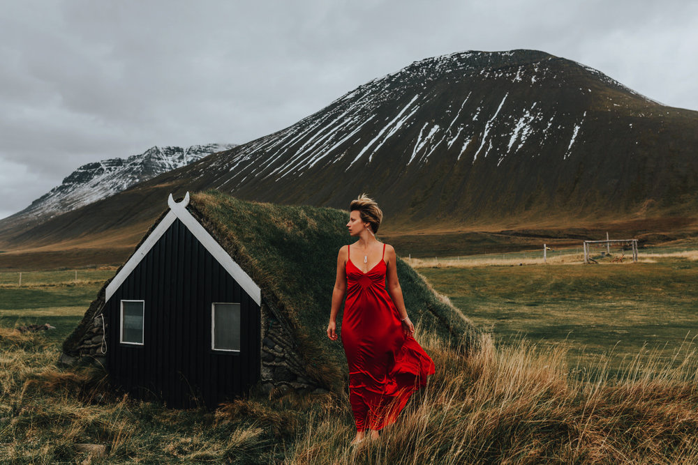 red dress iceland, iceland photography, iceland photographer