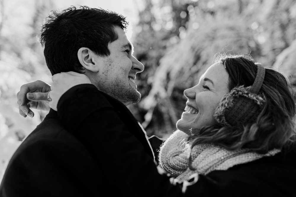 Snowy Engagement Photos - Gibsons Engagement Photos - Sunshine Coast Engagement Photos - Vancouver Wedding Photographer and Videographer - Jennifer Picard Photography101.JPG
