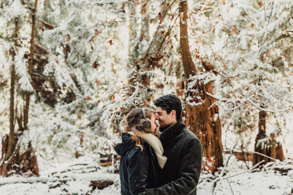 Snowy Engagement Photos - Gibsons Engagement Photos - Sunshine Coast Engagement Photos - Vancouver Wedding Photographer and Videographer - Jennifer Picard Photography114.JPG