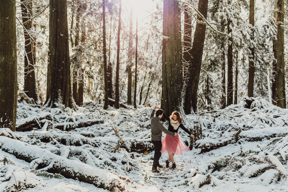 Snowy Engagement Photos - Gibsons Engagement Photos - Sunshine Coast Engagement Photos - Vancouver Wedding Photographer and Videographer - Jennifer Picard Photography067.JPG