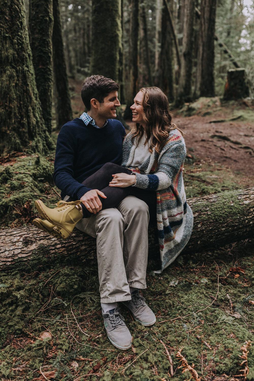Forest Engagement Photos - Sunshine Coast BC Engagement Photos -  Sunshine Coast Wedding Photographer - Vancouver Wedding Photographer - Jennifer Picard411.JPG