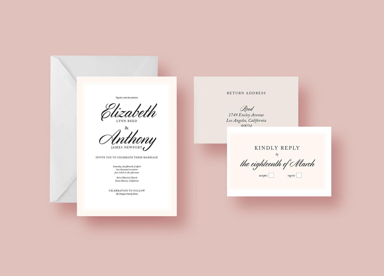 Wedding Invitation and Reply Card — Laura Botu