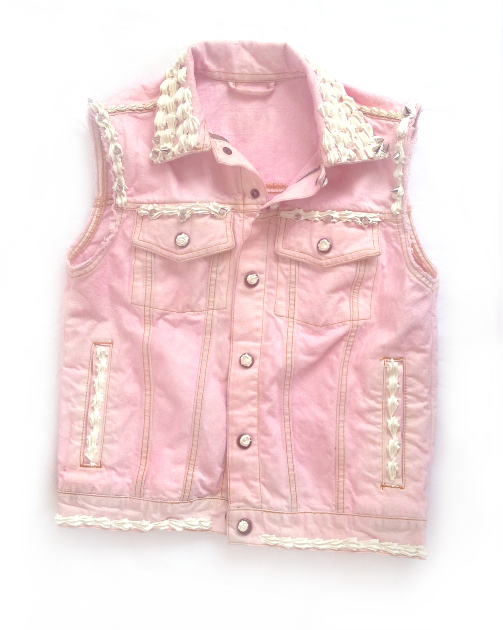Dylan Garrett Smith Blondie Decoden punk vest front