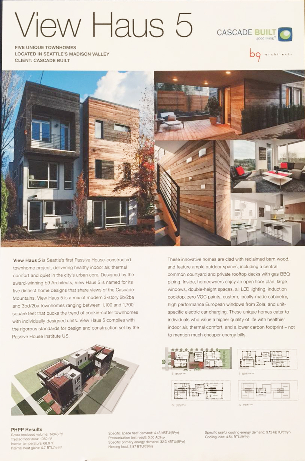 Poster presented at the North American Passive House Conference