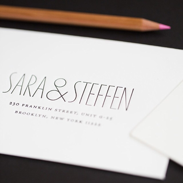 Sneak peek at one of my favorite invites from this year. Classic black letterpress and blind hit on lettra. Happy wedding weekend to such a gorgeous couple inside and out! Congrats @steffenringelmann and @lilstel #brooklynwedding #customimvitations #letterpress #rivercafe #inspiredgoodness #igcustom #letterpresswedding #blindletterpress