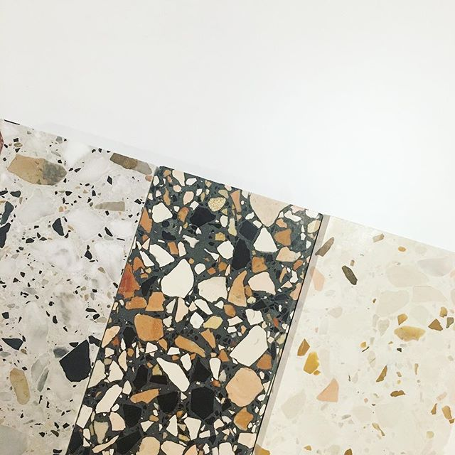 More #terrazzo on deck ... can't wait to get these from slab to market! #heranecklace #comingsoon