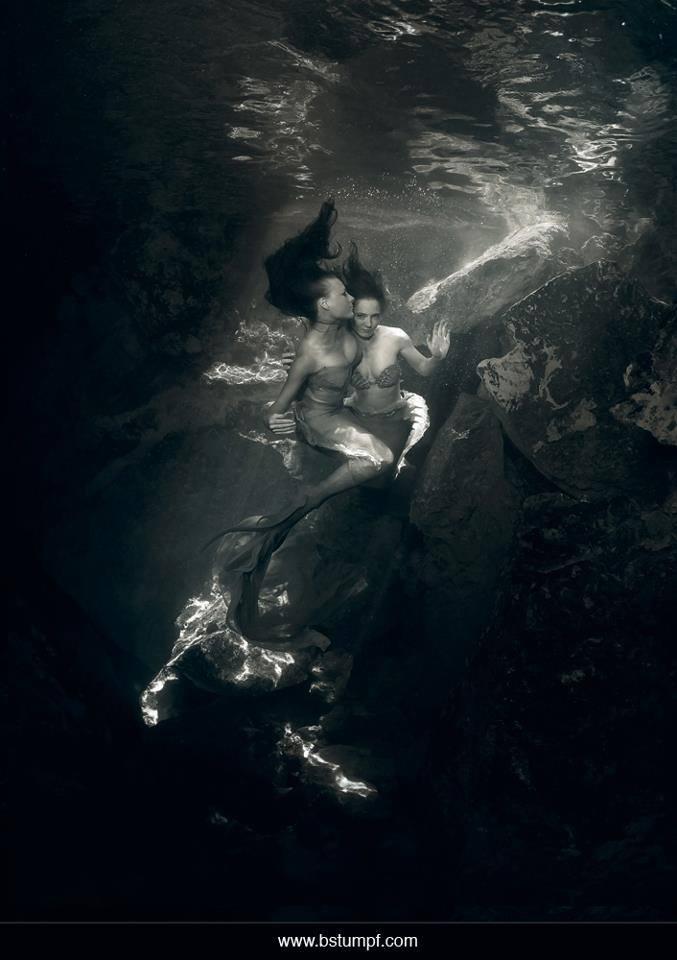 Virginia Jessica Mermaid Embrace Black and White Brenda Stumpf.jpg