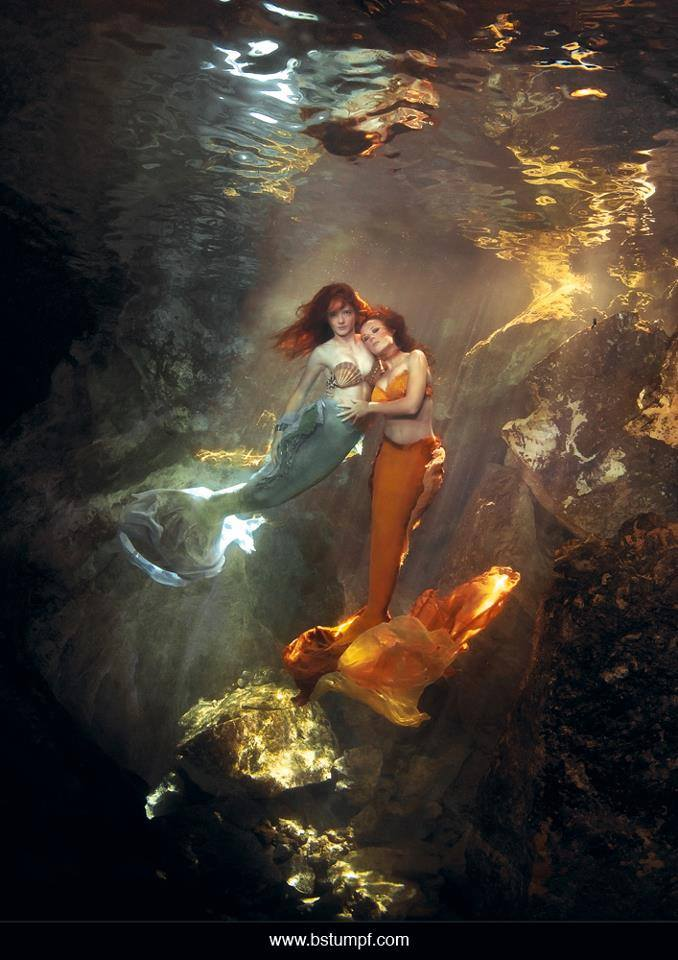 Mermaids Jessica and Virginia with Brenda Stumpf.jpg