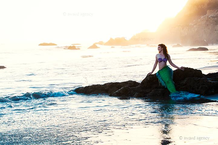 Chris Ward Sunset Mermaid on Beach.jpg