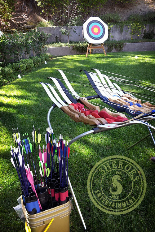 Our Classic Archery portable archery range on location at