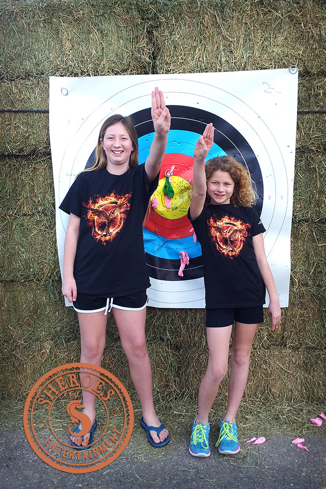 These two party guests LOVED The Hunger Games!