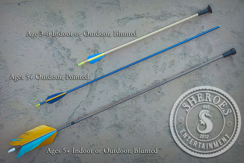 We have a variety of arrow types available to suit your unique event needs. This party normally ships with pointed arrows unless otherwise requested.