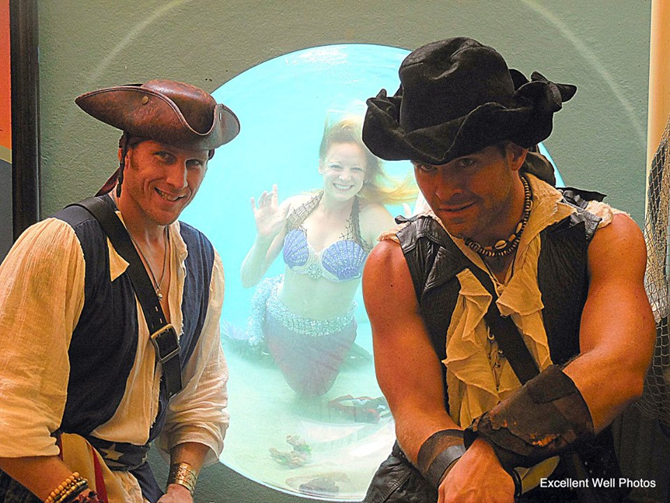 Pirate John and Matt with Mermaid Melody at Tall Ships Festival - Debi Magruder.jpg