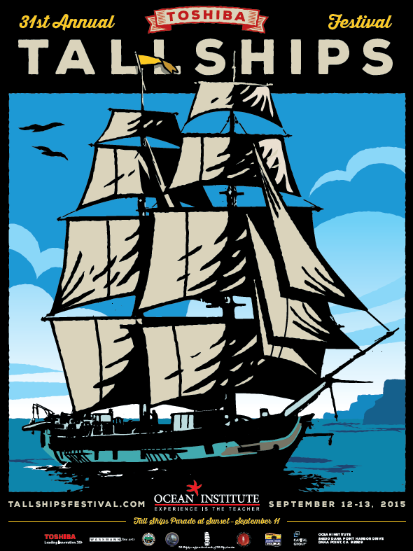 Tall Ships Festival Poster at Dana Point