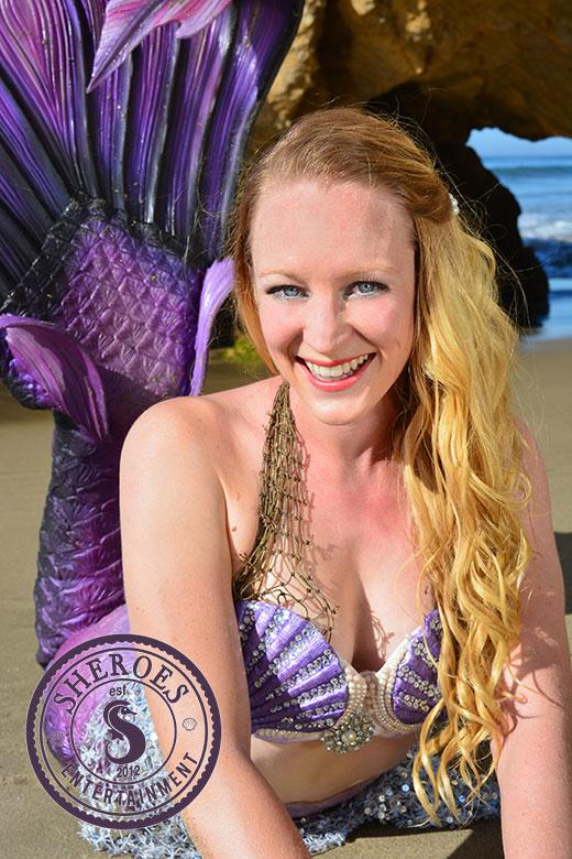 Purple Mermaid at Beach