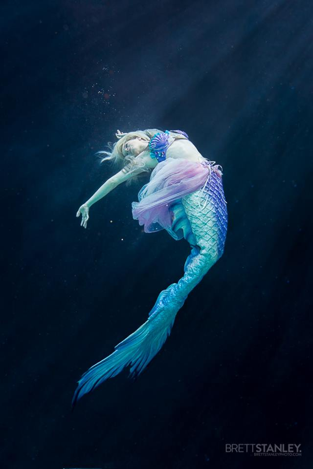 Mermaid Splash Dancing Under Water  (c) Brett Stanley