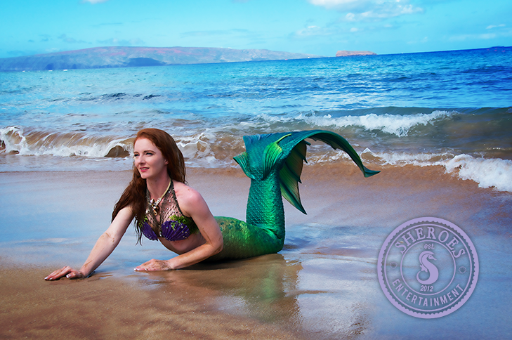 Catalina Mermaid as Little Mermaid on Beach.png
