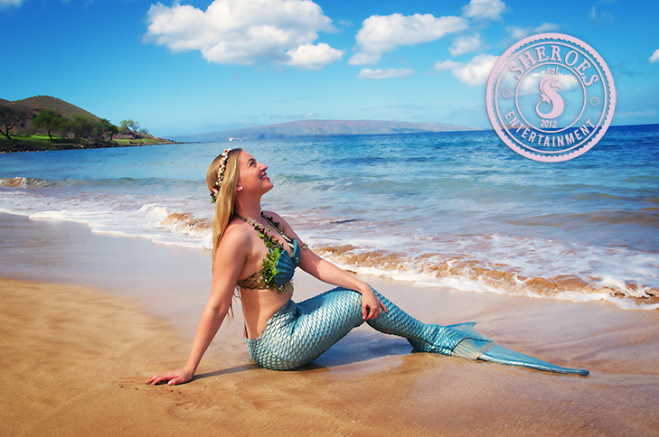 Mermaid Rachel on Maui Beach.png