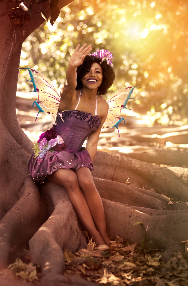 African American Fairy Party Character Los Angeles