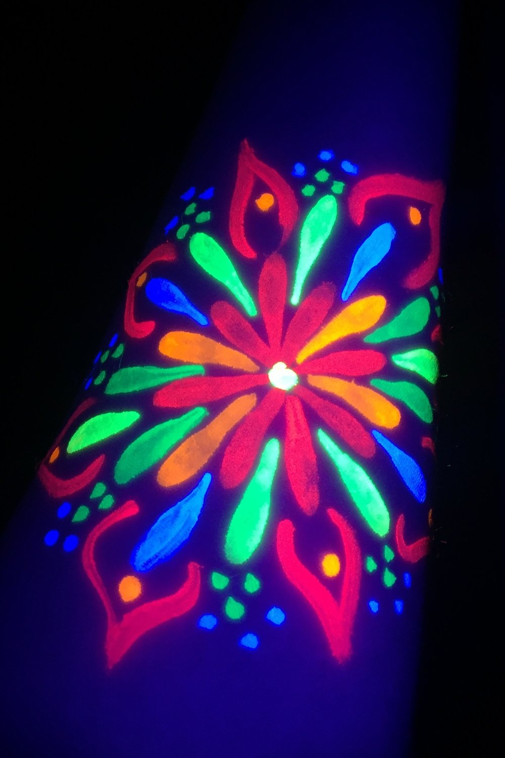 Blacklight / UV Style Arm Art is Popular in Los Angeles!
